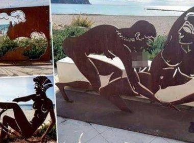 ഇത് ഒറിജിനലിലെ വെല്ലും! സ്പാനിഷ്  ബീച്ചിലെ നഗ്ന ശിൽപ്പങ്ങൾ കണ്ട് കണ്ണുപൊത്തി സഞ്ചാരികൾ